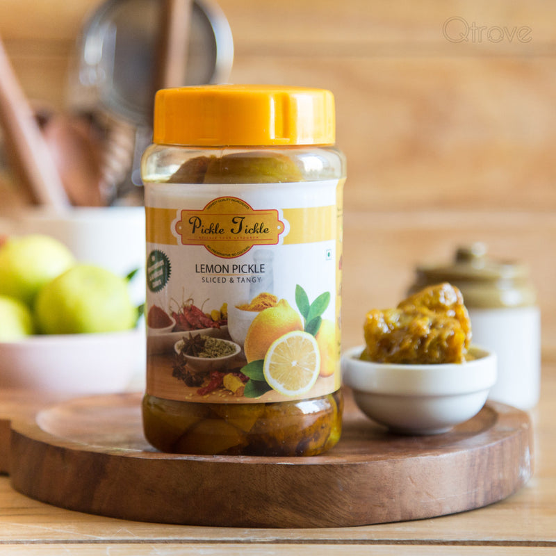Homemade Preservative Free Lemon Pickle