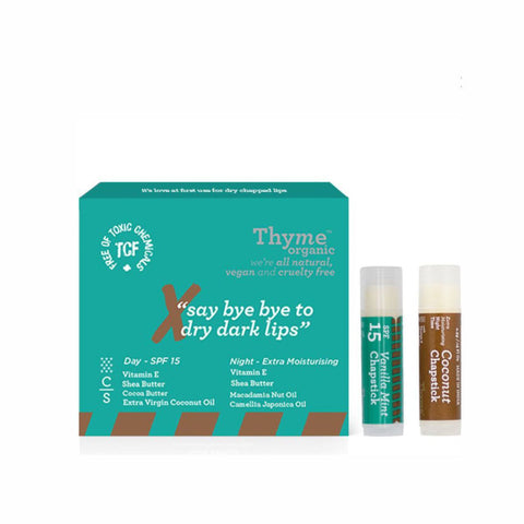 Lip Chapstick -Vanilla & Mint with SPF15 + Coconut (Combo Pack)