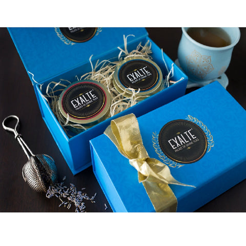 Festive Blue Tea Gift Box