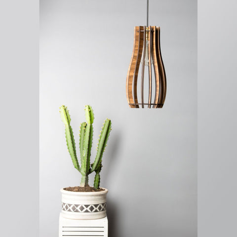 Long-line Wooden Ceiling Lamp