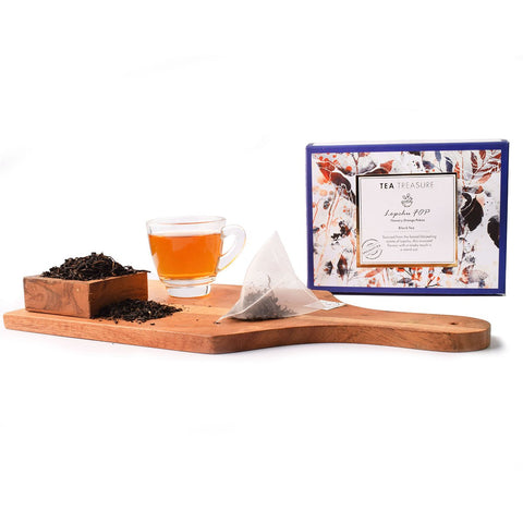 TeaTreasure Lopchu Flowery Orange Pekoe Darjeeling Black Tea -  18 Pyramid Tea Bags