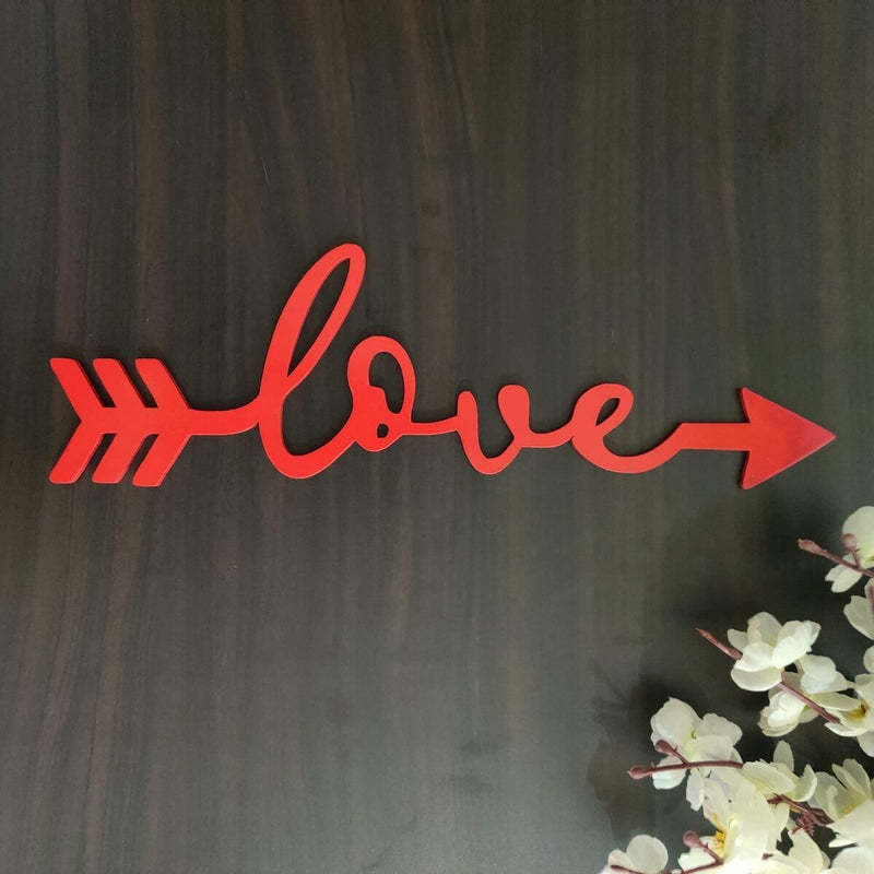 Wall Hanging (Wooden) - Love Arrow