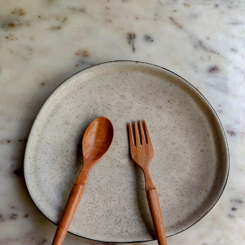 Neem Wood Spoon and Fork Set