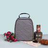 Lunch Bag (Zip Closure) Black Check