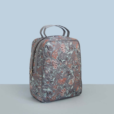 Lunch Bag (Zip Closure) Grey Print