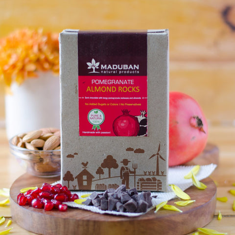 Pomegranate Almond Rocks Chocolate