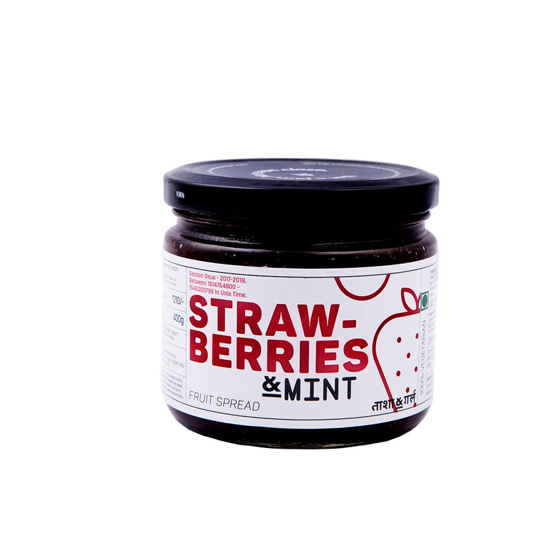 Mahabaleshwar Strawberries & Mint Fruit Spread (All Natural & Pure)