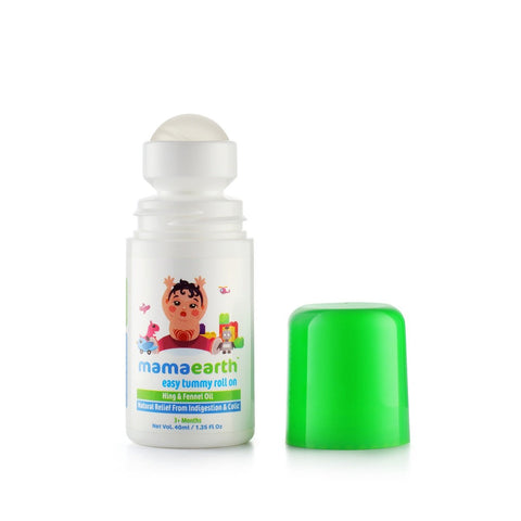 Easy Tummy Roll On for Digestion and Colic Relief, Hing and Fennel (40 ml)