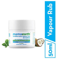 Natural Breathe Easy Vapour Rub Balm, with Wintergreen, Eucalyptus and Tulsi