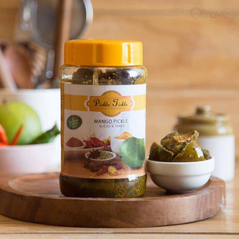 Homemade Preservative Free Mango Pickle