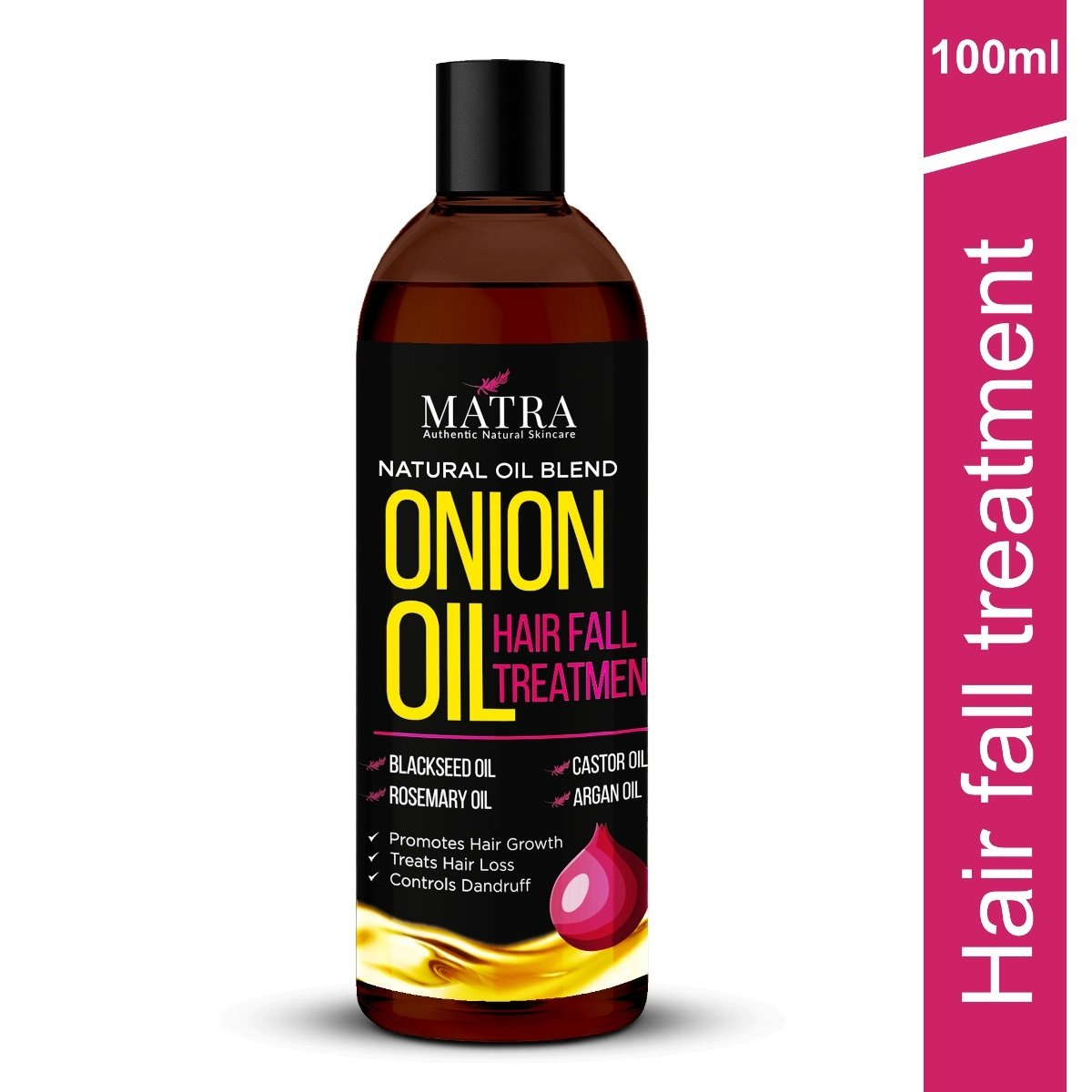 Onion Hair Growth Oil with Blackseed Oil, Castor Oil & Argan Oil