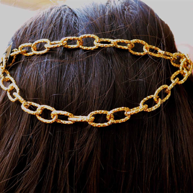 Matte Gold Textured Headchain