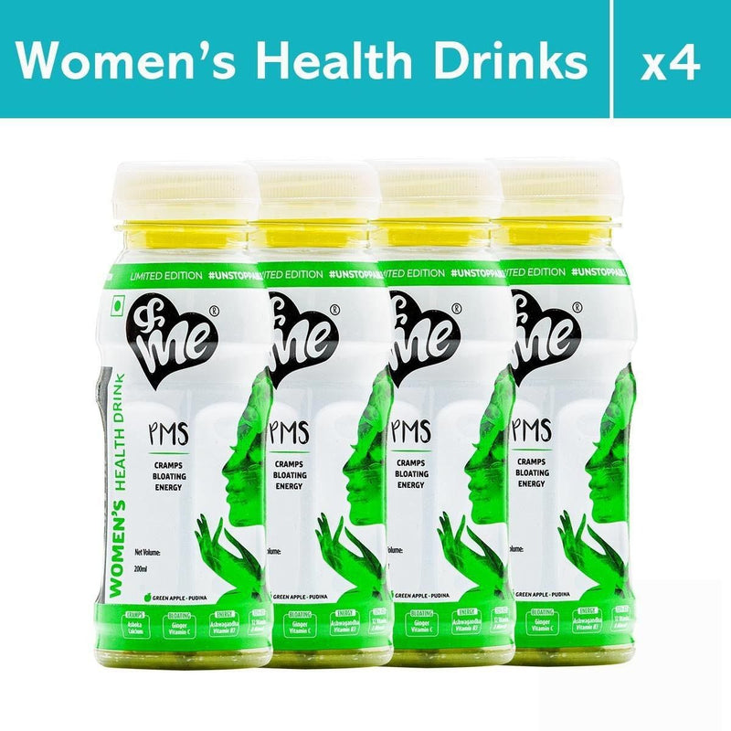 &Me PMS Women's Health Drink For Period Bloating, Cramps, Energy (Green Apple Flavour)
