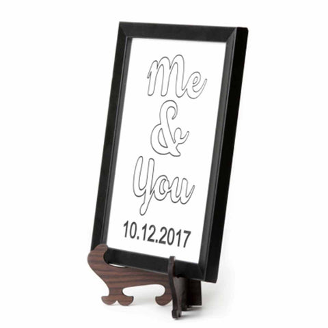 Me and You Marble Plaque - Black Color