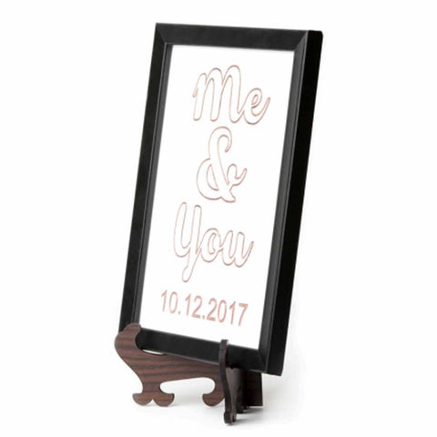 Me and You Marble plaque Rose Gold Colour