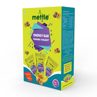 Mettle Banana Walnut Energy Bar ( Pack of 12)