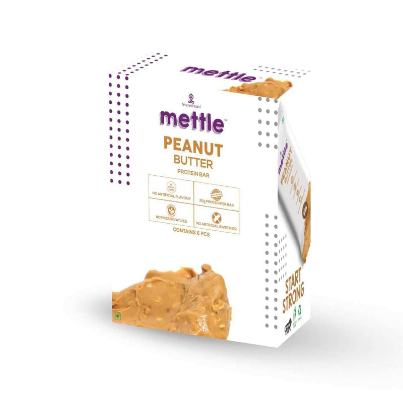 Mettle Peanut Butter Protein Bar ( Pack of 6)