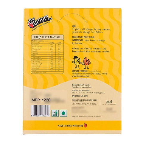 Mighty Melties Natural Fruit Snack Mango Banana (Pack of 4)