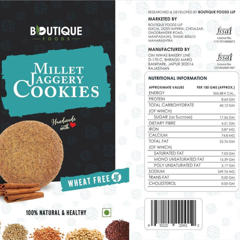 Millet Jaggery Cookies (Pack of 2) (100% natural)