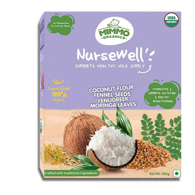 Mimmo Organics NurseWell | 100% Certified Organic Breast Feeding Supplement