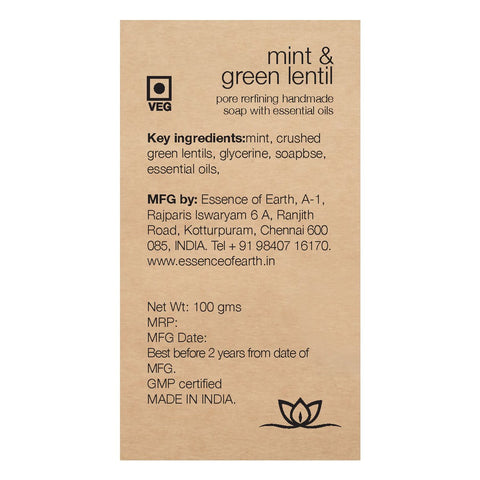Mint And Green Lentil Scrub Pore Refining Soap (Pack Of 2)