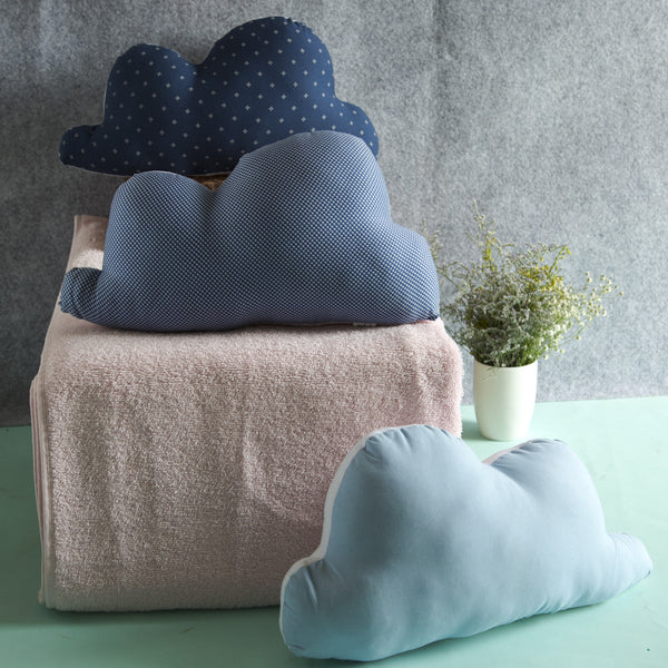 100% Cotton Fabric Clouds Plush Pillows (Pack of 3) at Qtrove