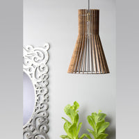 Modern Geometric Wooden Ceiling Lamp