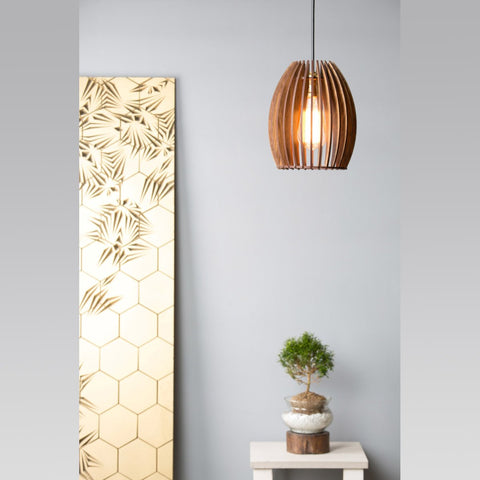 Modern Poofy Wooden Ceiling Lamp
