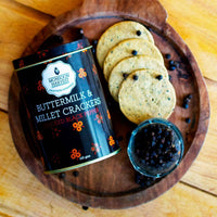 Buttermilk & Millet Crackers: Caramelised Onion & Cracked Black Pepper (Combo Pack of 2)