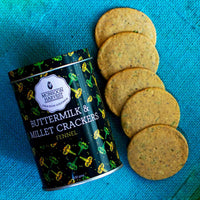 Buttermilk & Millet Crackers: Fennel & Cracked Black Pepper (Combo Pack of 2)