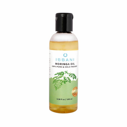 Ibbani Naturals Moringa Oil For Skin and Hair (100% Pure and Cold Pressed) FSSAI Approved