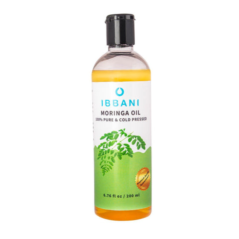 Ibbani Naturals Moringa Oil For Skin and Hair  200 ml(100% Pure and Cold Pressed) FSSAI Approved