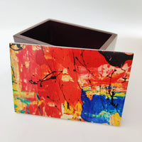 Multi Use Printed Lid Wooden Storage Box