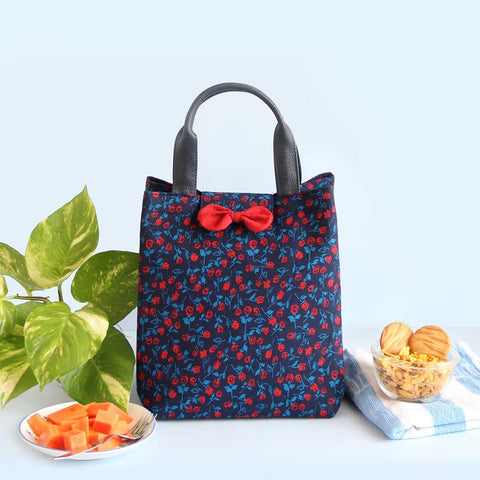 Lunch Bag (Red Floral) (Multipurpose Bag)