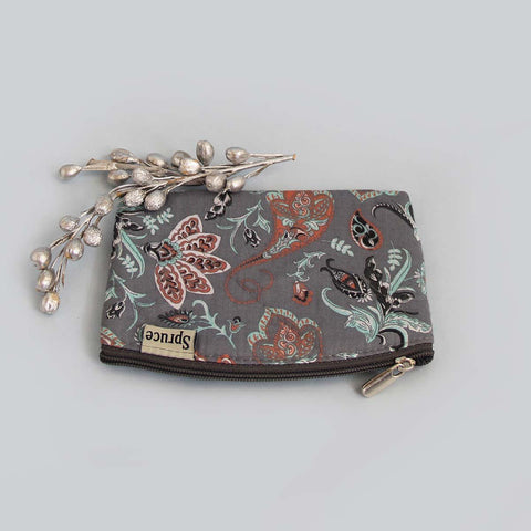 Multipurpose Pouch (Small) – Grey Print