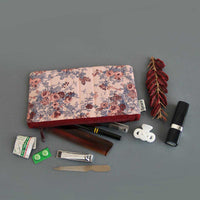 Multipurpose Pouch (Peach & Maroon Floral) (Small)