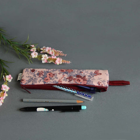 Multipurpose Pouch (Pink & Maroon Floral)