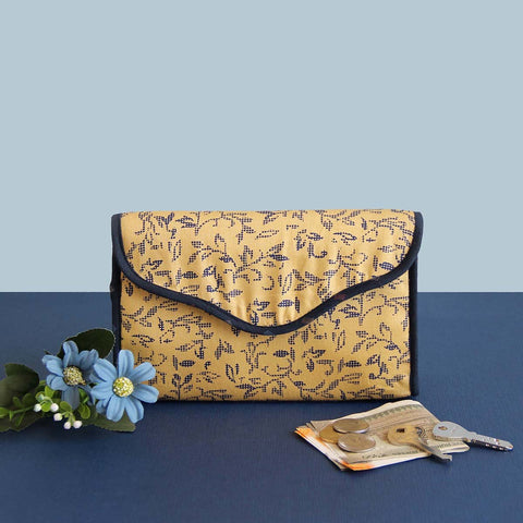 Cosmetic Pouch (Yellow and Blue Floral)