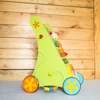 Premium Wooden Musical Activity Walker