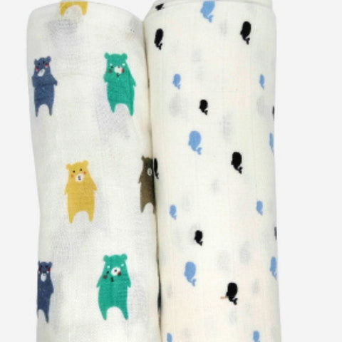 Muslin Swaddle Blanket (L Size) (Set of 3)