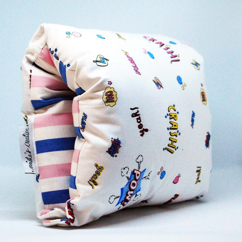 Nursing Arm Pillow – Retro Graphics With Multi Stripes