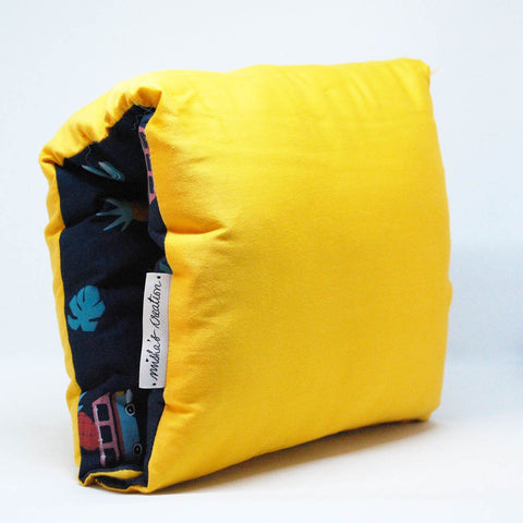 Nursing Arm Pillow – Mexican Blue With Yellow Reverse