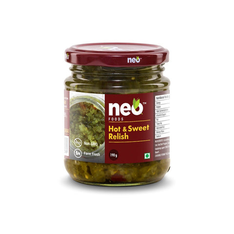 Hot & Sweet Relish - Pack of 2, 2 x 190 g
