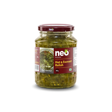 Hot & Sweet Relish - Pack of 3, 3 x 340 g