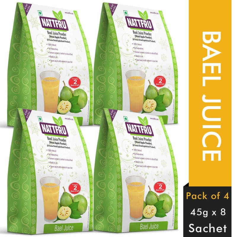 Pure & Freeze Dried Bael Fruit Powder (Pack of 4)