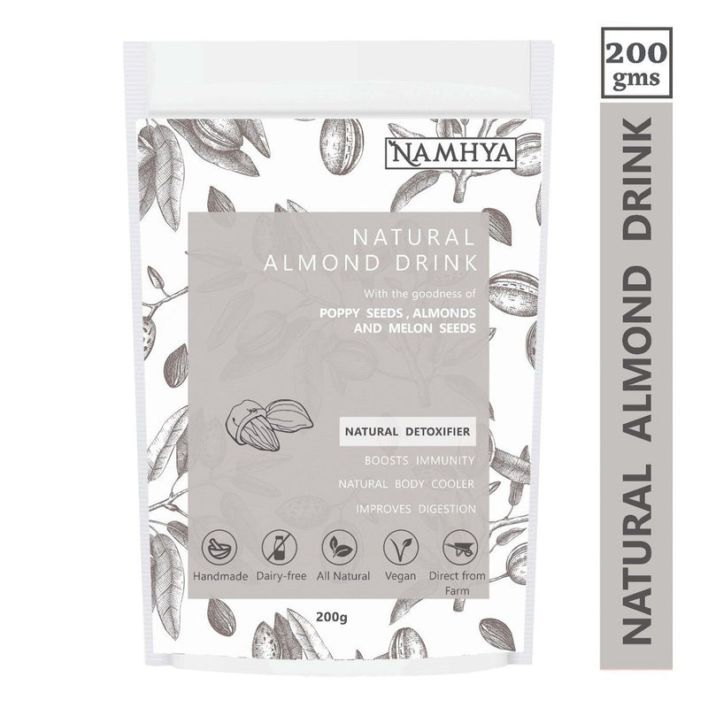 Natural Almond Drink (With Poppy seeds, Almonds and Melon Seeds)
