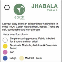 Natural Dyed Jhabla - Butterfly (Pack of 4)