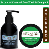 Ayurvedic Activated Charcoal Face Wash and Face Pack (150 ml + 50 g)