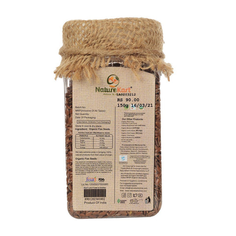 Organic Flax Seeds 150 gm (Pack of 2)