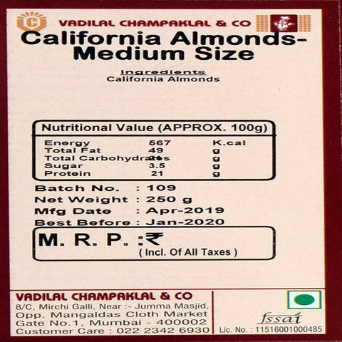 California Almonds - Medium Size